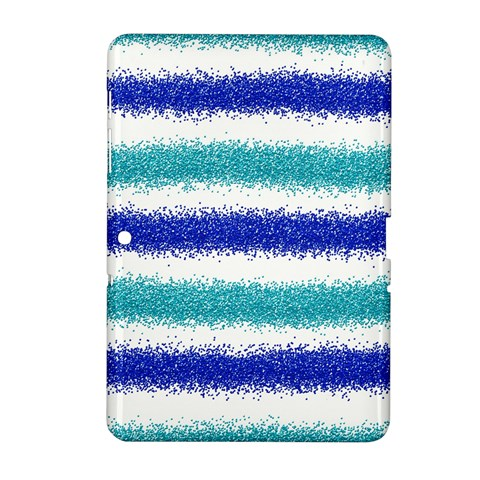 Metallic Blue Glitter Stripes Samsung Galaxy Tab 2 (10.1 ) P5100 Hardshell Case
