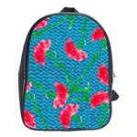 Carnations School Bags(Large)  Front
