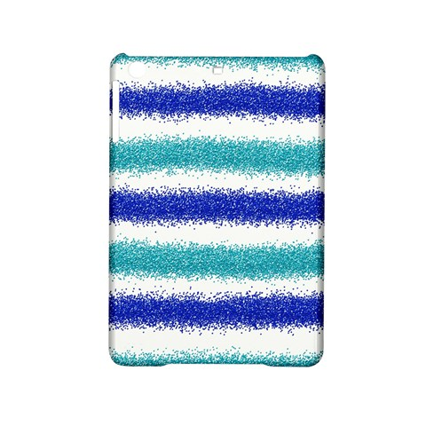 Metallic Blue Glitter Stripes iPad Mini 2 Hardshell Cases