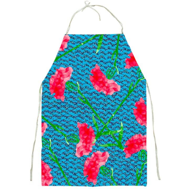 Carnations Full Print Aprons