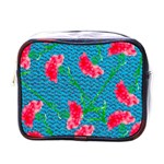 Carnations Mini Toiletries Bags Front