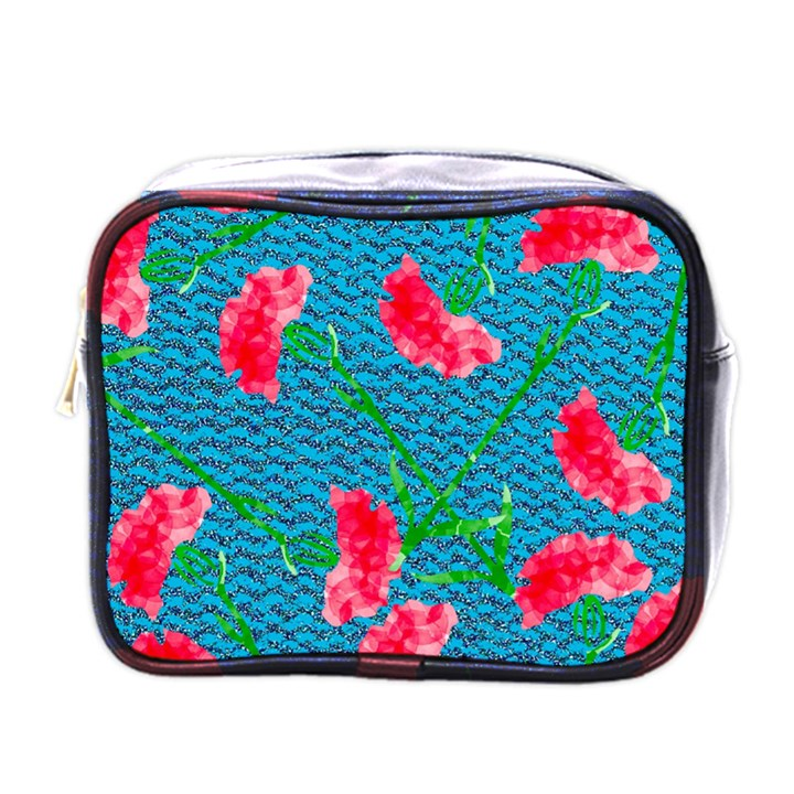 Carnations Mini Toiletries Bags