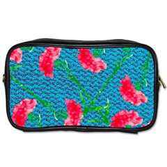 Carnations Toiletries Bags 2 Side