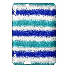 Metallic Blue Glitter Stripes Kindle Fire HDX Hardshell Case