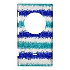 Metallic Blue Glitter Stripes Nokia Lumia 1020