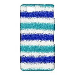 Metallic Blue Glitter Stripes Sony Xperia Z1 Compact