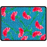 Carnations Fleece Blanket (Large)  80 x60 Blanket Front