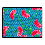 Carnations Fleece Blanket (Small) 50 x40 Blanket Front