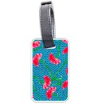 Carnations Luggage Tags (Two Sides) Back