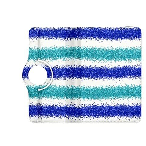 Metallic Blue Glitter Stripes Kindle Fire HDX 8.9  Flip 360 Case