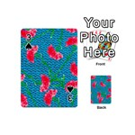 Carnations Playing Cards 54 (Mini)  Front - Spade3