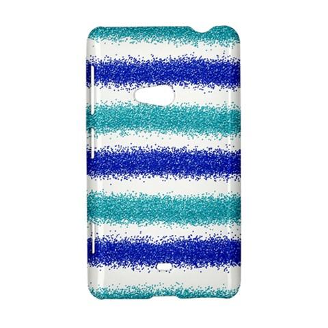 Metallic Blue Glitter Stripes Nokia Lumia 625