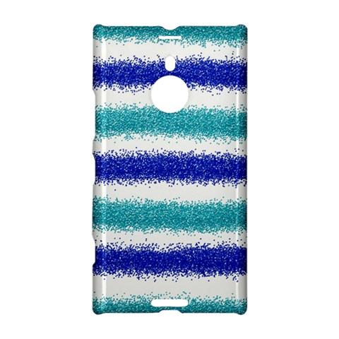 Metallic Blue Glitter Stripes Nokia Lumia 1520