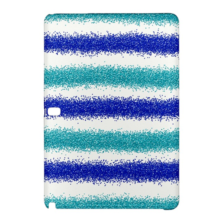 Metallic Blue Glitter Stripes Samsung Galaxy Tab Pro 10.1 Hardshell Case