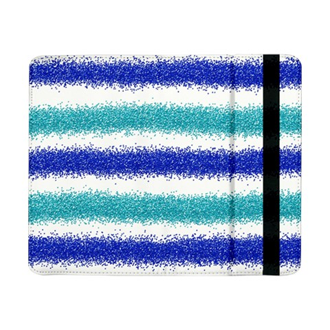 Metallic Blue Glitter Stripes Samsung Galaxy Tab Pro 8.4  Flip Case