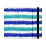 Metallic Blue Glitter Stripes Samsung Galaxy Tab Pro 8.4  Flip Case Front