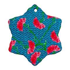 Carnations Ornament (snowflake)