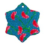 Carnations Snowflake Ornament (2-Side) Back