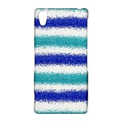 Metallic Blue Glitter Stripes Sony Xperia Z2