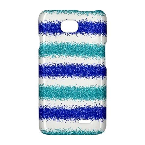 Metallic Blue Glitter Stripes LG Optimus L70