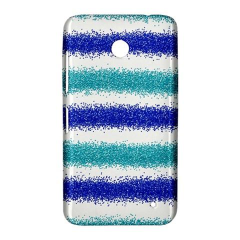 Metallic Blue Glitter Stripes Nokia Lumia 630