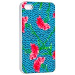 Carnations Apple iPhone 4/4s Seamless Case (White) Front