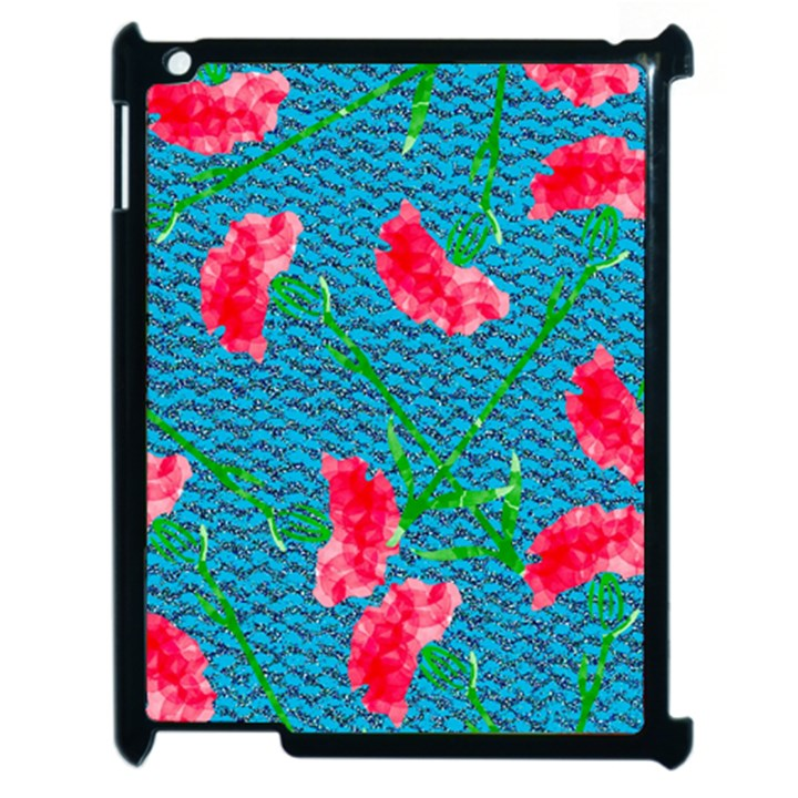 Carnations Apple iPad 2 Case (Black)