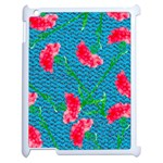 Carnations Apple iPad 2 Case (White) Front