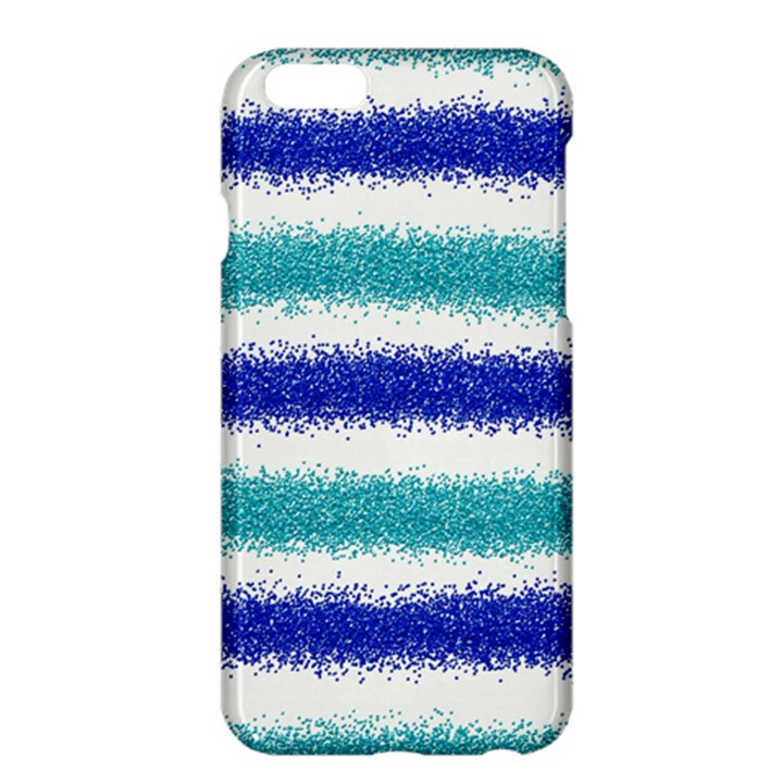 Metallic Blue Glitter Stripes Apple iPhone 6 Plus/6S Plus Hardshell Case