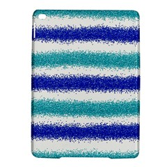 Metallic Blue Glitter Stripes iPad Air 2 Hardshell Cases