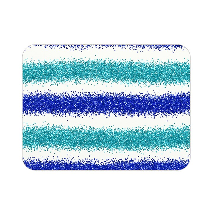 Metallic Blue Glitter Stripes Double Sided Flano Blanket (Mini)