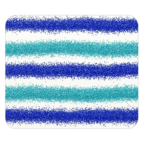 Metallic Blue Glitter Stripes Double Sided Flano Blanket (Small)