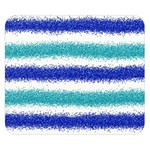 Metallic Blue Glitter Stripes Double Sided Flano Blanket (Small)  50 x40 Blanket Back