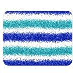 Metallic Blue Glitter Stripes Double Sided Flano Blanket (Large)  80 x60 Blanket Front