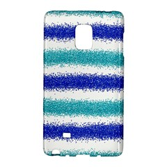 Metallic Blue Glitter Stripes Galaxy Note Edge