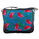 Carnations Messenger Bags Front