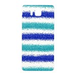 Metallic Blue Glitter Stripes Samsung Galaxy Alpha Hardshell Back Case Front