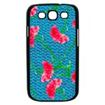 Carnations Samsung Galaxy S III Case (Black) Front