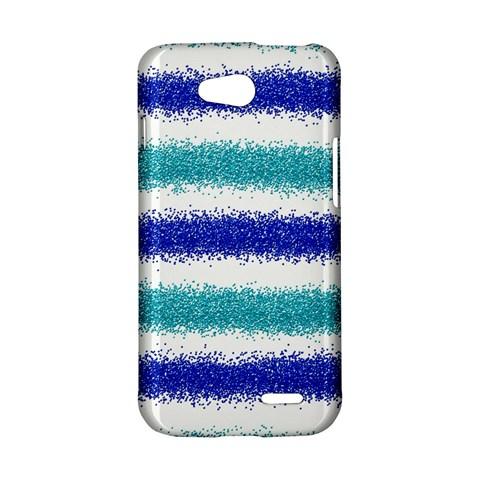 Metallic Blue Glitter Stripes LG L90 D410