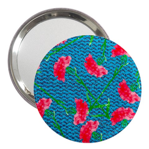 Carnations 3  Handbag Mirrors
