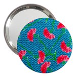 Carnations 3  Handbag Mirrors Front