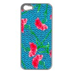 Carnations Apple iPhone 5 Case (Silver) Front
