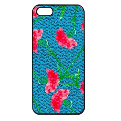 Carnations Apple iPhone 5 Seamless Case (Black)