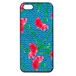 Carnations Apple iPhone 5 Seamless Case (Black) Front