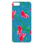 Carnations Apple iPhone 5 Seamless Case (White) Front