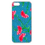 Carnations Apple Seamless iPhone 5 Case (Clear) Front