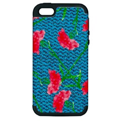 Carnations Apple iPhone 5 Hardshell Case (PC+Silicone)