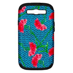 Carnations Samsung Galaxy S III Hardshell Case (PC+Silicone)