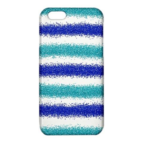 Metallic Blue Glitter Stripes iPhone 6/6S TPU Case