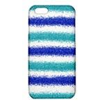 Metallic Blue Glitter Stripes iPhone 6/6S TPU Case Front
